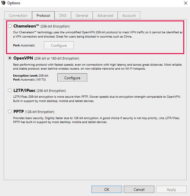 VyprVPN Chameleon VPN - Stealth Protocol
