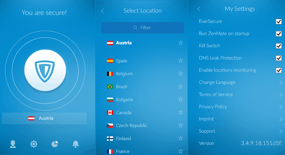 ZenMate VPN Review - ZenMate Windows application