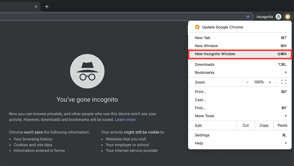 Does Incognito mode hide IP address? - Chrome Incognito